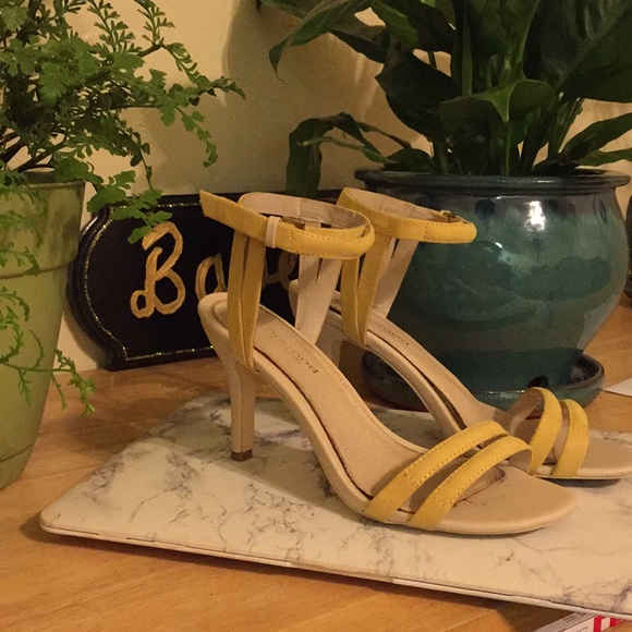 Promod Shoes - Yellow strappy heels